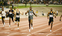 Sanjay Ayre winning the 400m in a time of 45.68sec. at the Jamaica International Invitational Meet on Saturday, May 3rd. 2008. Photo by Errol Anderson, The Sporting Image