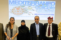 Roma 26 Settembre 2015<br /> Convegno internazionale &ldquo;Mediterraneo Solidale&rdquo;, organizzato dalla onlus Solidarit&eacute; Identit&eacute;s. Un incontro su come l&rsquo;ex &ldquo;Mare Nostrum&rdquo; possa ridiventare luogo di civilt&agrave; e di incontro fra culture differenti. Yvette Shamier, Segretaria comitato siriani di Olanda. Rima Fakhri membro del consiglio politico di Hezbollah. Sayyed Ammar Al Moussawi, responsabile relazioni internazionali Hezbollah. Jamal Abo Abbas, Presidente della comunit&agrave; siriana in Italia.<br /> Rome September 26, 2015<br /> International conference &quot;Mediterranean Solidarity&quot;, organized by the non-profit organization Solidarit&eacute; Identit&eacute;s. A meeting about  how the former &quot;Mare Nostrum&quot; can  become a place of civilization and encounter between different cultures.Yvette Shamier Secretary Syrian Committee of Netherlands. Rima Fakhri member of the political council of Hezbollah. Sayyed Ammar Al Moussawi, head of Hezbollah's international relations. Jamal Abo Abbas, President of the Syrian community in Italy.