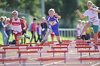 ATLETIEK: HEERENVEEN: 19-09-2015, Athletics Champs AV Heerenveen, Isis van der Velden (#25 | 10 jaar), Quinty de Vries (#167 | 10 jaar), ©foto Martin de Jong