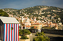 View of town from La Citadelle at Villefranche.  Near Nice in the South of France