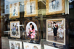 window display of photography studio and shop in Japan