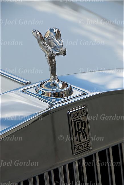 The Spirit Of Ecstasy Hood Ornament On The Rolls Royce