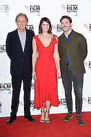LONDON, UK. October 13, 2016: Bill Nighy, Gemma Arterton &amp; Sam Claflin at the London Film Festival photocall for &quot;Their Finest&quot; at the Mayfair Hotel, London.<br /> Picture: Steve Vas/Featureflash/SilverHub 0208 004 5359/ 07711 972644 Editors@silverhubmedia.com