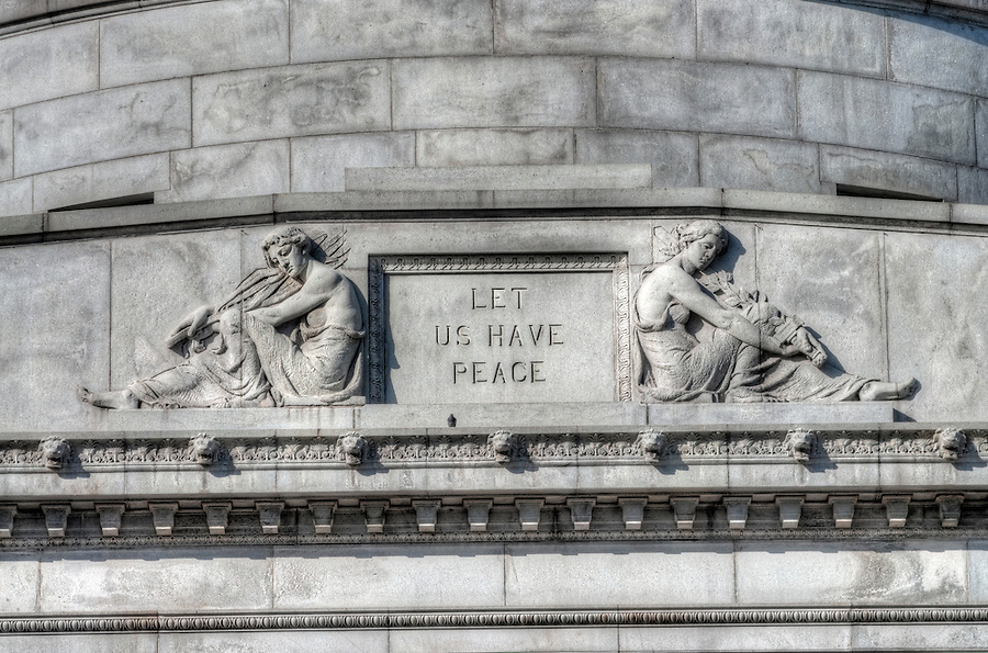 General Grant National Memorial, Riverside Park, New York City, architect John H. Duncan, New York, Grants Tomb, Let Us Have Peace