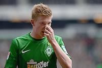 FUSSBALL   1. BUNDESLIGA   SAISON 2012/2013    28. SPIELTAG SV Werder Bremen - FC Schalke 04                          06.04.2013 Kevin De Bruyne (SV Werder Bremen) ist enttaeuscht