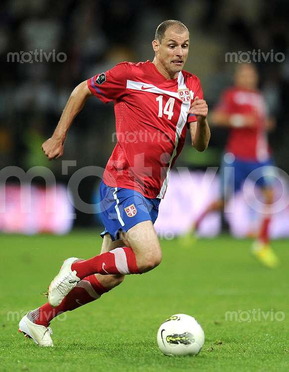 FUSSBALL INTERNATIONAL  Qualifikation Euro 2012  11.10.2011 Slowenien - Serbien Milan JOVANOVIC (Serbien)