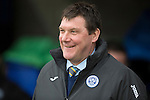 St Johnstone v Kilmarnock.....28.02.15<br /> A happy Saints manager Tommy Wright before kick off<br /> Picture by Graeme Hart.<br /> Copyright Perthshire Picture Agency<br /> Tel: 01738 623350  Mobile: 07990 594431