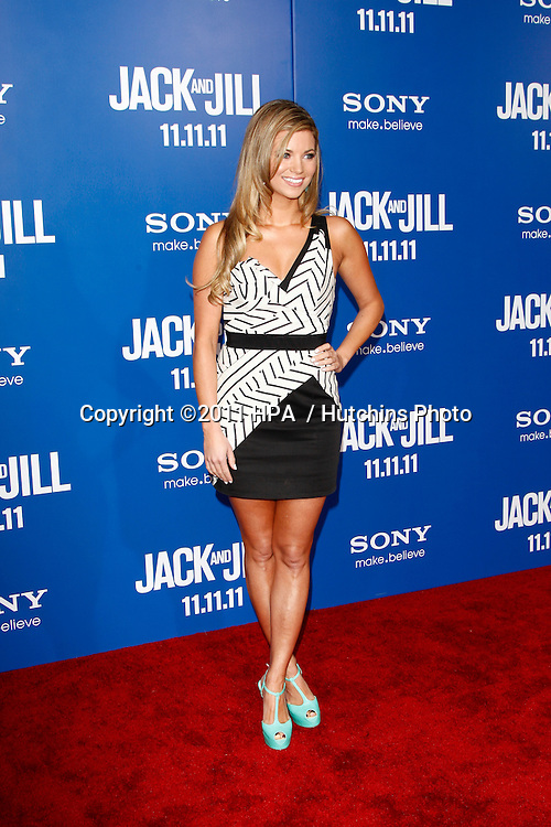 LOS ANGELES - NOV 6:  Amber Lancaster arrives at the Jack and Jill Premiere at Regency Village Theatre on November 6, 2011 in Westwood, CA
