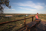 Mapungubwe National Park, confluence viewpoint overlooking Limpopo and Shashi river confluence, Limpopo Province, South Africa