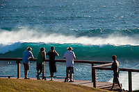 Snapper Rocks, Coolangatta, Queensland Australia. (Sunday March 16, 2014) &ndash;  The swell  was in the 6'-10' range today from the East. D-Bah was closing out and the Superbank while Currumbin and Burleigh<br />  were all big but unridable as the wind came up from the NW early and blew out the waves. . Photo: joliphotos.com