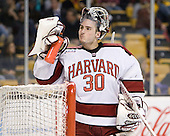 Raphael Girard (Harvard - 30) - The Boston College Eagles defeated the Harvard University Crimson 4-1 in the opening round of the 2013 Beanpot tournament on Monday, February 4, 2013, at TD Garden in Boston, Massachusetts.