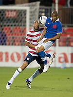 03 June 2012: US Men's National Soccer Team defender  Oguchi Onyewu #5 and Canadian Men's National Soccer Team forward Simeon Jackson Forward #10 in action during an international friendly soccer match between the United States Men's National Soccer Team and the Canadian Men's National Soccer Team at BMO Field in Toronto.