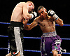 November 9th 2007 - John Murray (L) and Dean Hickman trade blows during their bout at the Ice Arena, Nottingham, England
