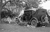 Bedford PA:  Stewart family on a weekend camping trip in the new 1926 Chevrolet Superior Touring car - 1927
