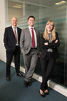 Senior Partner Andy Mattews (left) with Paul Simpson  and Charlotte Chapman from Gateley plc Nottingham