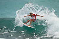 BURLEIGH HEADS, Queensland/Australia (Sunday, 22 January, 2012) Leila Hurst (HAW) – Today saw a slight decrease in swell size at Burleigh Heads for Day 2 of the Billabong World Junior Championships Gold Coast, and the call was made to run Rounds 1 and 2 of the Women's event. The women went for it in the fun 2-3 foot (1 meter) surf, putting on a good show for the hundreds of onlookers lining the Burleigh Headland...Sarah Baum (ZAF) was the talk of the town today after starring in the last heat of Round 1. The young lady from Durban, South Africa used her powerful backhand attack to post the highest heat total of the event thus far - 18.53 (out of a possible 20)..Sarah Mason (New Zealand) was another goofy-footer to put on a dominant Round 1 performance where she scored a massive heat total of 17.96 (out of a possible 20)..Alessa Quizon (HAW) used her sharp backhand attack to post some big scores today and skipped Round 2, advancing directly into Round 3. Quizon defeated Bianca Buitendag (ZAF) and Philippa Anderson (AUS) who finished 2nd and 3rd respectively..The Billabong World Junior Championships  will decide the 2011 ASP Junior World Champions in the men's and women's divisions..Photo: joliphotos.com