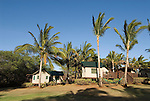 Hawaii: Molokai, eco-lodging at The Lodge at Moloki Ranch, at Kaupoa Beach, self-sufficient lodgings with own solar electricity, solar hot water, and composting toilet..Photo himolo194-72344..Photo copyright Lee Foster, www.fostertravel.com, lee@fostertravel.com, 510-549-2202