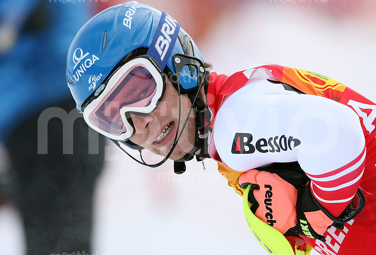 Ski Alpin; Saison 2006/2007   Slalom  Abfahrt Benjamin Raich (AUT) enttaeuscht ausgeschieden