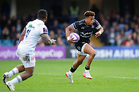 Anthony Watson of Bath Rugby in possession. European Rugby Challenge Cup Quarter Final, between Bath Rugby and CA Brive on April 1, 2017 at the Recreation Ground in Bath, England. Photo by: Patrick Khachfe / Onside Images