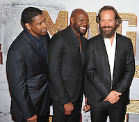 New York, NY- September 19: Denzel Washington, Antoine Fuqua, Peter Sarsgaard attends the 'The Magnificent Seven' New York premiere at Museum of Modern Art on September 19, 2016 in New York City@John Palmer / Media Punch