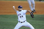 Ole Miss' Jake Morgan (44) pitches in relief against Alabama at Oxford-University Stadium in Oxford, Miss. on Friday, March 18, 2011. Ole Miss won 4-0. Morgan picked up his 5th save of the year. The Rebels are 15-4 on the season and 1-0 in SEC play.  (AP Photo/Oxford Eagle, Bruce Newman)