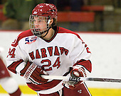 Luke Greiner (Harvard - 24) - The visiting Quinnipiac University Bobcats defeated the Harvard University Crimson 3-1 on Wednesday, December 8, 2010, at Bright Hockey Center in Cambridge, Massachusetts.