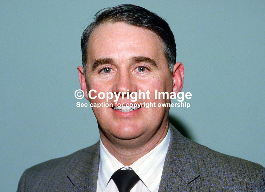 William Martin, aka Billy Martin, deputy president, Ulster Farmers' Union, N Ireland, 19850020WM.<br /> <br /> Copyright Image from Victor Patterson, 54 Dorchester Park, Belfast, UK, BT9 6RJ<br /> <br /> t: +44 28 90661296<br /> m: +44 7802 353836<br /> vm: +44 20 88167153<br /> e1: victorpatterson@me.com<br /> e2: victorpatterson@gmail.com<br /> <br /> For my Terms and Conditions of Use go to www.victorpatterson.com