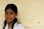 Bushra Anwar is one of several girls who work as domestic servants who get off-hour training in embroidery and basic literacy skills at a Church of Pakistan-sponsored program in the Punjab village of Chuhang. .