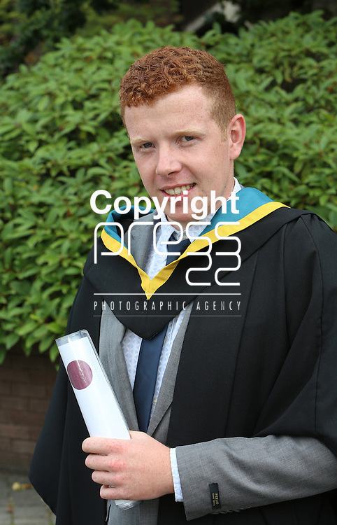 24/8/2014  With Compliments.  Attending the University of Limerick conferrings was Ciaran McDonnell, Killasser, Swinford, Mayo who was conferred with a BSC Education Biological Sciences.<br /> Picture Liam Burke/Press 22