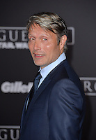 Actor Mads Mikkelsen at the world premiere of &quot;Rogue One: A Star Wars Story&quot; at The Pantages Theatre, Hollywood. <br /> December 10, 2016<br /> Picture: Paul Smith/Featureflash/SilverHub 0208 004 5359/ 07711 972644 Editors@silverhubmedia.com