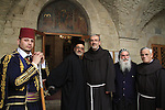 Israel, Jerusalem, the Custos of the Holy Land Fr. Pierbattista Pizzaballa ofm at the Syrian Orthodox St. Mark's Church on Holy Thursday