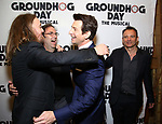 Tim Minchin, Danny Rubin, Andy Karl and Matthew Warchus attends the Broadway Opening Night After Party for 'Groundhog Day' at Gotham Hall on April 17, 2017 in New York City.