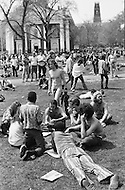 New Haven, CT. May 2nd 1970 Yale University.<br /> A nude man walks among protesters and students during a demonstration at Yale University. Yale students and protesters from around the US are demonstrating in support of the Black Panther Party while several party leaders, including cofounder Bobby Seale, are on trial.