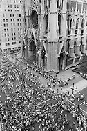 5th Avenue, Manhattan, New York City, NY - August 26th, 1970<br /> Feminists march down 5th Avenue past St. Patrick&rsquo;s Cathedral on the 50th anniversary of the passing of the Nineteenth Amendment which granted American women full suffrage. The National Organization for Women (NOW) called upon women nationwide to &quot;strike for equality&quot; on that day.