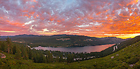 Sunset Panorama, Donner Lake
