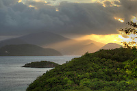 Sunrise from St. John looking towards Tortola<br /> Virgin Islands
