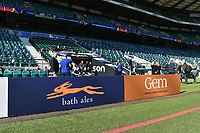 A general view of a Bath Ales billboard alongside the pitch. The Clash, Aviva Premiership match, between Bath Rugby and Leicester Tigers on April 8, 2017 at Twickenham Stadium in London, England. Photo by: Patrick Khachfe / Onside Images