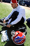 19 October 2008:  Buffalo Bills' punter Brian Moorman prepares to face the San Diego Chargers at Ralph Wilson Stadium in Orchard Park, NY. The Bills defeated the Chargers 23-14 and maintain their first place position in the AFC East with a 5 and 1 record...Mandatory Photo Credit: Ed Wolfstein Photo