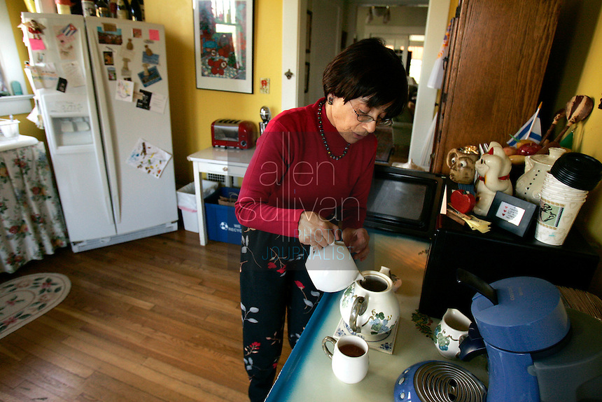 Intown Atlanta bed and breakfast owner Adele Northrup, pouring tea, said she wants her housekeeper, who is a Mexican immigrant, to speak only English while working for her. The same goes for everyone whom she employs. &quot;I don't like being a stranger in my own house.&quot; she said. She gave the housekeeper (who asked to not be identified) a Spanish-English dictionary for Christmas. Northrup said her grandparents, who emigrated to the United States from Russia, &quot;got with the program right away&quot; and learned the English language.<br />
