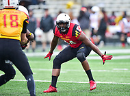 College Park, MD - APR 22, 2016: Maryland Terrapins tight end Andrew Isaacs (44) Andrew Isaacs follows the quarterback  during the 2017 Spring game at Capital One Field at Maryland Stadium in College Park, MD. (Photo by Phil Peters/Media Images International)