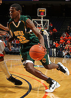 Dec. 20, 2010; Charlottesville, VA, USA; Norfolk State Spartans guard/forward Chris McEachin (35) drives to the basket during the game against the Virginia Cavaliers at the John Paul Jones Arena. Mandatory Credit: Andrew Shurtleff