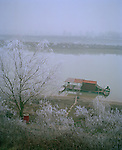 Winter in Lombardy, Italy along the Po River