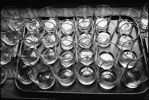 Tray of Glasses, Ickworth Hall by Paul Cooklin
