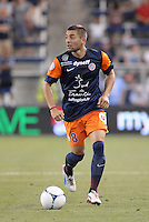 Anthony Mounier (8) midfield Montpellier in action..Sporting Kansas City were defeated 3-0 by Montpellier HSC in an international friendly at LIVESTRONG Sporting Park, Kansas City, KS..