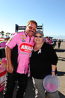 Oct. 28 2011; Las Vegas, NV, USA: NHRA top fuel dragster driver Terry McMillen during qualifying for the Big O Tires Nationals at The Strip at Las Vegas Motor Speedway. Mandatory Credit: Mark J. Rebilas-