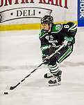 24 October 2015: University of North Dakota Forward Nick Schmaltz, a Sophomore from Verona, WI, in third period action against the University of Vermont Catamounts at Gutterson Fieldhouse in Burlington, Vermont. North Dakota defeated the Catamounts 5-2 in the second game of their weekend series. Mandatory Credit: Ed Wolfstein Photo *** RAW (NEF) Image File Available ***