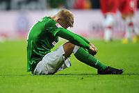 FUSSBALL   1. BUNDESLIGA   SAISON 2012/2013   4. SPIELTAG SV Werder Bremen - VfB Stuttgart                         23.09.2012        Aaron Hunt (SV Werder Bremen) ist nach dem Abpfiff enttaeuscht
