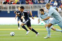 Camilo (27) Vancouver Whitecaps midfielder in action... Sporting KC defeated Vancouver Whitecaps 2-1 at LIVESTRONG Sporting Park, Kansas City, Kanas.