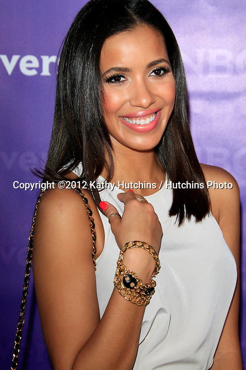 PASADENA - APR 18:  Julissa Bermudez arrives at the NBCUniversal Summer Press Day at The Langham Huntington Hotel on April 18, 2012 in Pasadena, CA