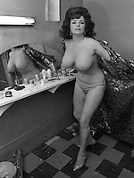 BURLESQUE STAR: PREFORMER/DANCER Blaze Starr backstage at the Follies Burlesque in San Francisco 1965. (photo/Ron Riesterer)